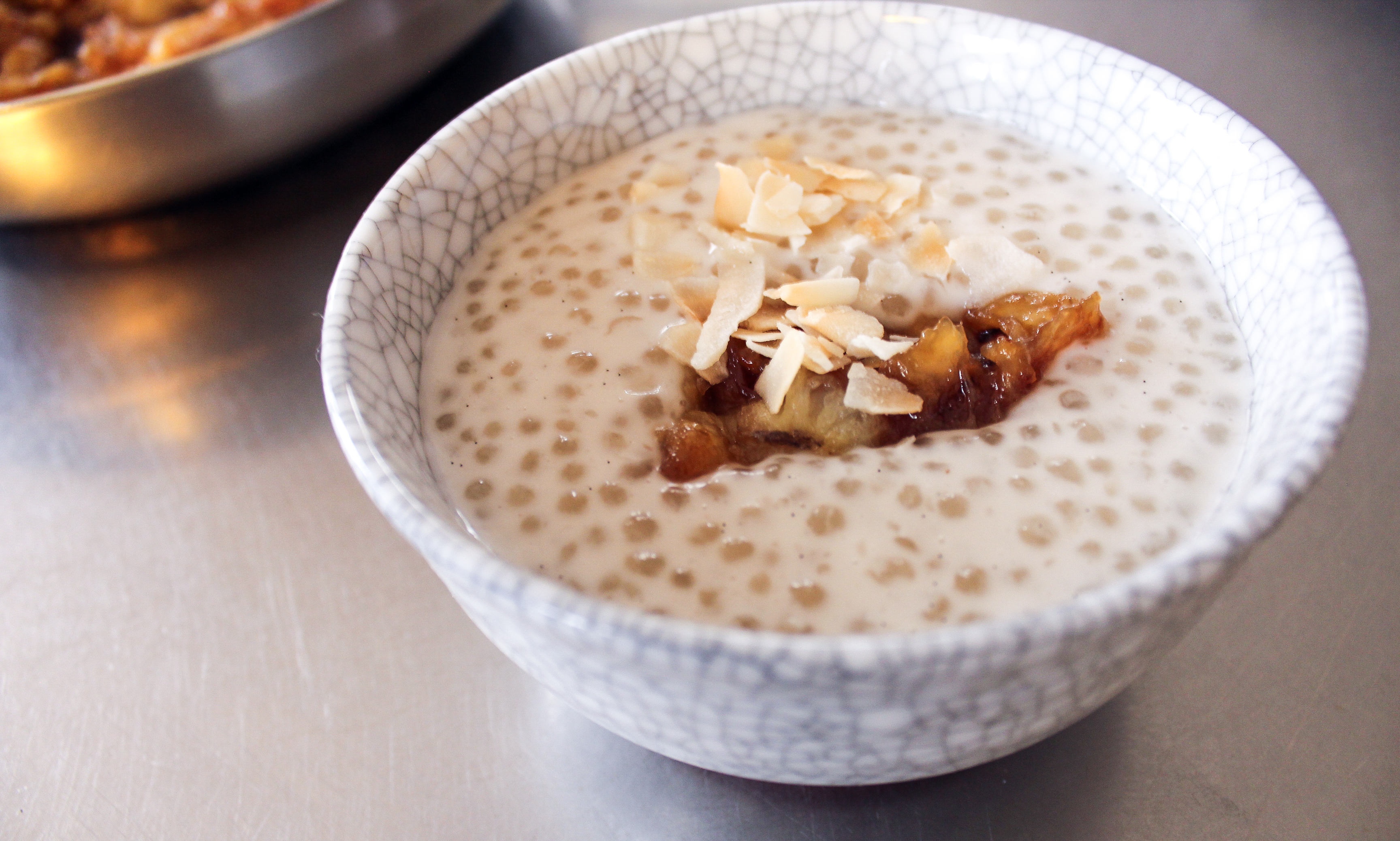Coconut and Tapioca Pudding with Caramelised Bananas   one ...