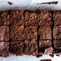 Dark Chocolate and Roasted Hazelnut Fudge Brownies