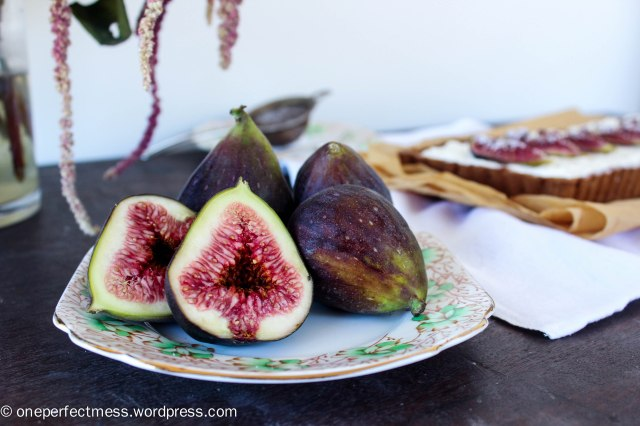 Honey Roasted Fig Dark Chocolate and Mascarpone Tart Recipe One Perfect Mess 2