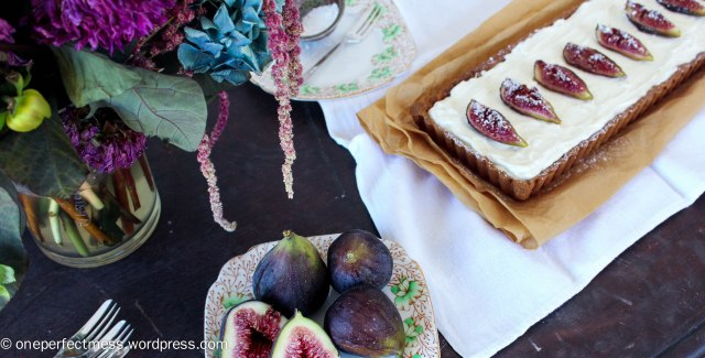 Honey Roasted Fig Dark Chocolate and Mascarpone Tart Recipe One Perfect Mess 3