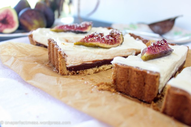 Honey Roasted Fig Dark Chocolate and Mascarpone Tart Recipe One Perfect Mess 4