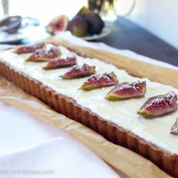 Honey Roasted Fig, Dark Chocolate and Mascarpone Tart