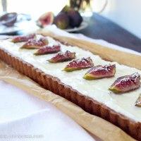 Honey Roasted Fig, Dark Chocolate and Mascarpone Tart