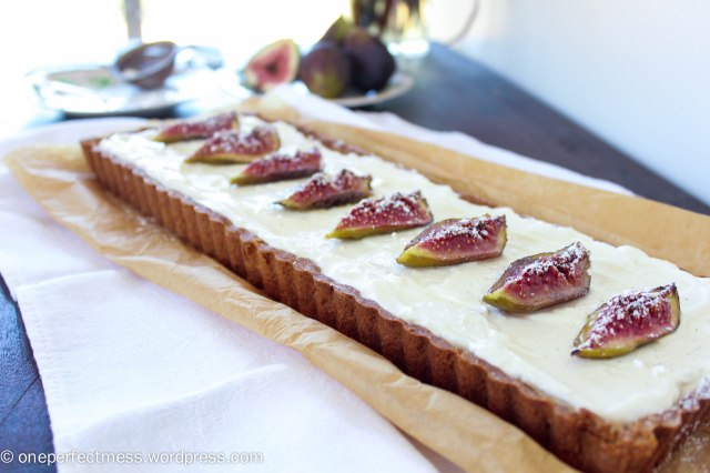 Honey Roasted Fig Dark Chocolate and Mascarpone Tart Recipe One Perfect Mess 7
