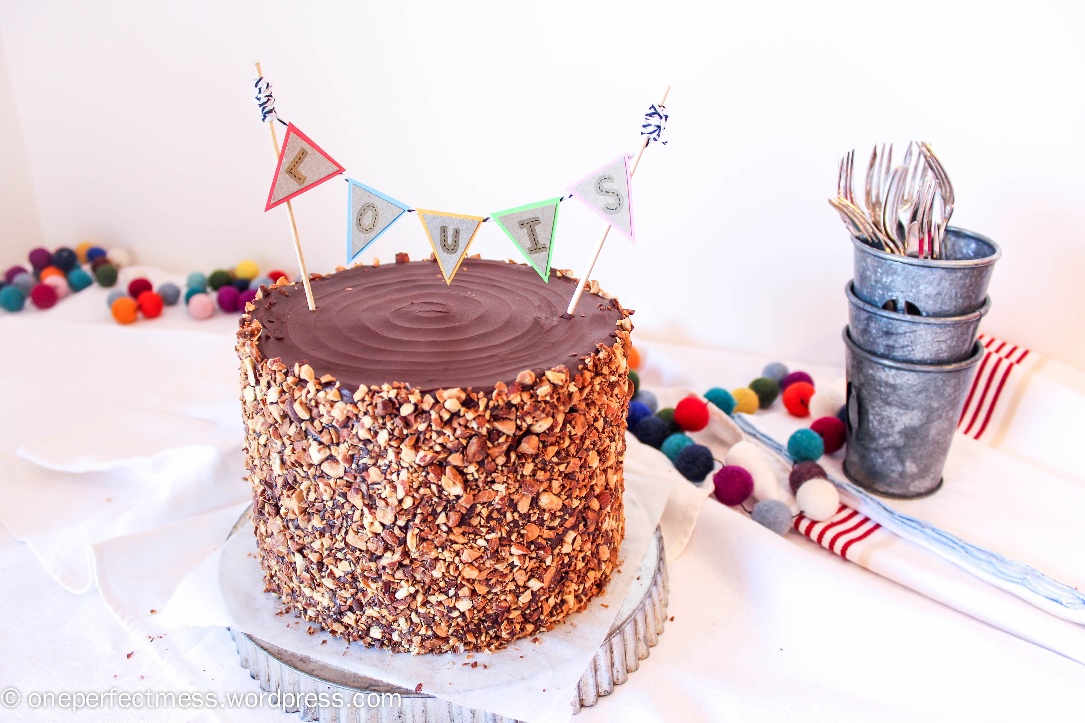 Roasted Almond And Dark Chocolate Layer Cake One Perfect Mess