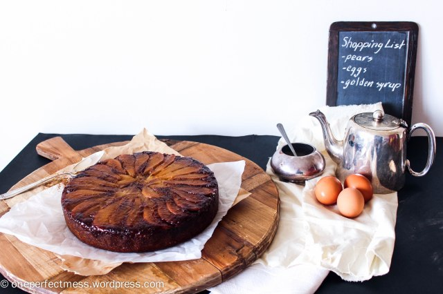 Caramelised Pear and Ginger Upside Down Cake Recipe One Perfect Mess 7