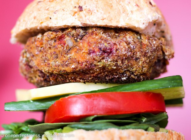 Roasted Vegetable Burgers One Perfect Mess easy recipe yummy vegetarian gluten free roast veggie patties sandwich bun healthy lunch dinner freezable 10