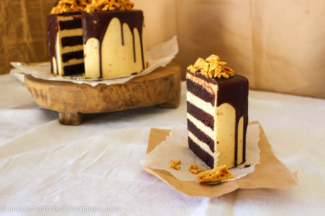 Honeycomb and Chocolate Four Layer Celebration Cake Recipe One Perfect Mess 10