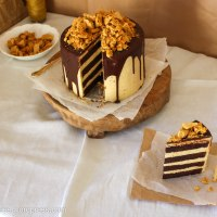 Honeycomb and Chocolate Four Layer Celebration Cake