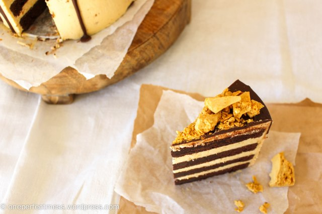 Honeycomb and Chocolate Four Layer Celebration Cake Recipe One Perfect Mess 13