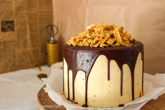 Honeycomb and Chocolate Four Layer Celebration Cake Recipe One Perfect Mess 3