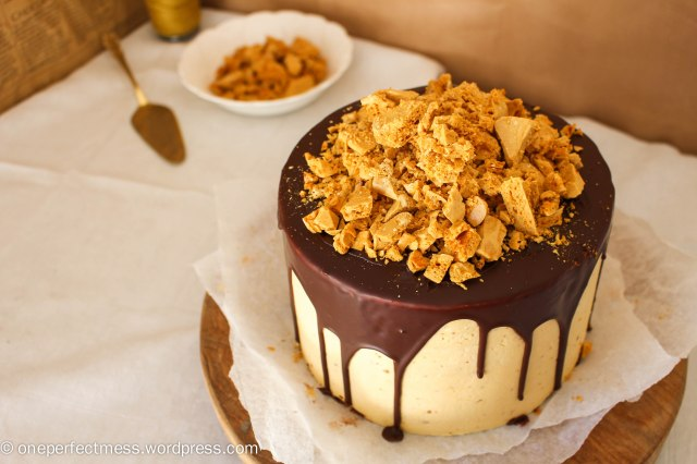 Honeycomb and Chocolate Four Layer Celebration Cake Recipe One Perfect Mess 5