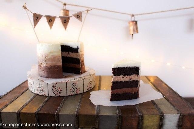 Mini Triple Chocolate Ombre Layer Cake One Perfect Mess recipe 10