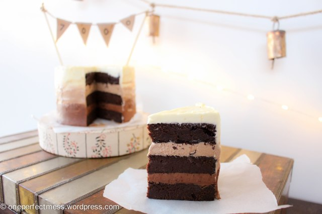 Mini Triple Chocolate Ombre Layer Cake One Perfect Mess recipe 6