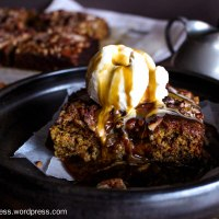 Sticky Date and Pear Pudding with Butterscotch Sauce