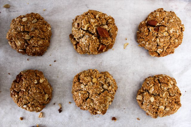 Sugar Free Healthy Muesli Anzac Cookies recipe One Perfect Mess 5