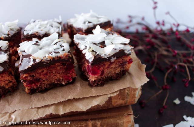 Cherry Chocolate and Coconut Slice recipe One Perfect Mess Cherry Ripe cherries easy Christmas fudge 11