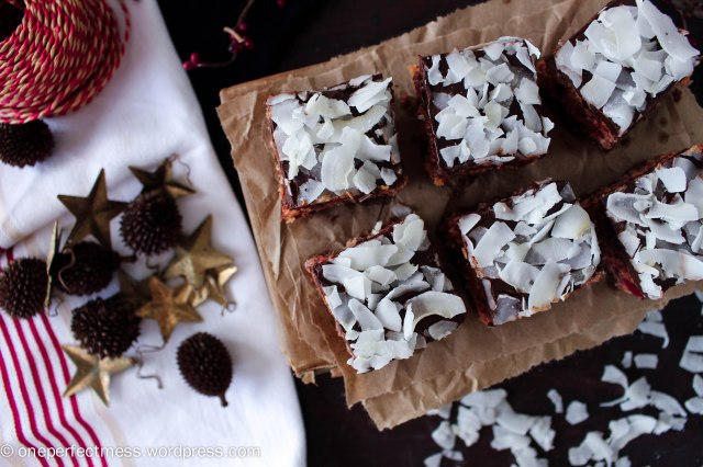 Cherry Chocolate and Coconut Slice recipe One Perfect Mess Cherry Ripe cherries easy Christmas fudge 12