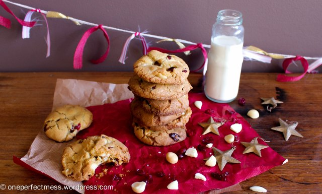 Cranberry, Macadamia Nut and White Chocolate Cookies One Perfect Mess recipe biscuits easy chewy crunchy Christmas baking moist 11