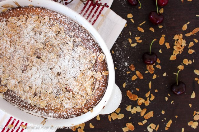 Fresh Plum and Whole Cherry Clafoutis One Perfect Mess recipe easy almond almonds gluten free French Christmas baking pudding dessert 10