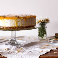 Mango, Passionfruit and Coconut Vegan Cheesecake