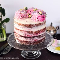 Lemon and Raspberry Naked Layer Cake