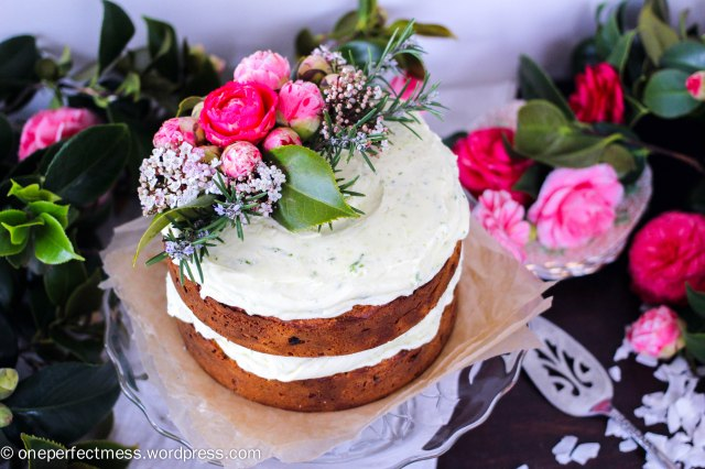 Carrot and Coconut Cake with Lime Cream Cheese Frosting recipe One Perfect Mess blog easy simple baking layer celebration gluten free dairy free wheat free healthy fresh flowers naked cake 5