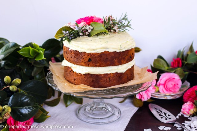 Carrot and Coconut Cake with Lime Cream Cheese Frosting recipe One Perfect Mess blog easy simple baking layer celebration gluten free dairy free wheat free healthy fresh flowers naked cake 6