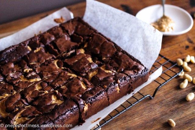 crunchy-peanut-butter-brownies-one-perfect-mess-recipe-easy-baking-dark-chocolate-soft-moist-rich-fudge-fudge-7
