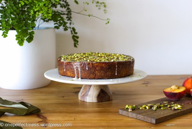 peach-and-pistachio-cake-one-perfect-mess-easy-recipe-baking-upside-down-yotam-ottolenghi-gluten-free-stone-fruits-syrup-icing-11