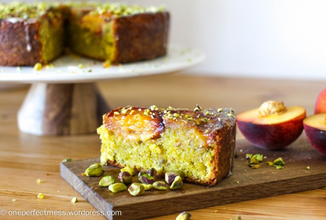 peach-and-pistachio-cake-one-perfect-mess-easy-recipe-baking-upside-down-yotam-ottolenghi-gluten-free-stone-fruits-syrup-icing-3