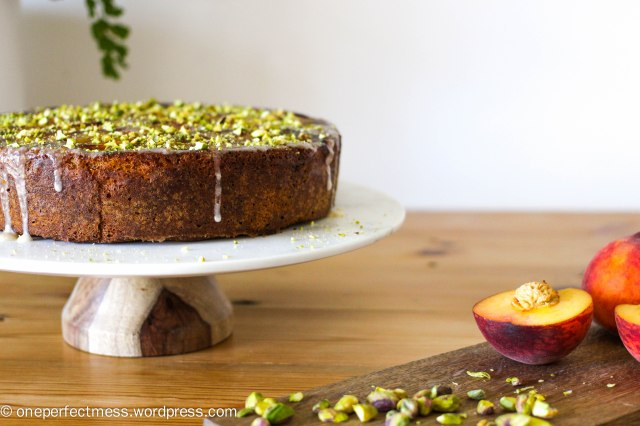 peach-and-pistachio-cake-one-perfect-mess-easy-recipe-baking-upside-down-yotam-ottolenghi-gluten-free-stone-fruits-syrup-icing-8